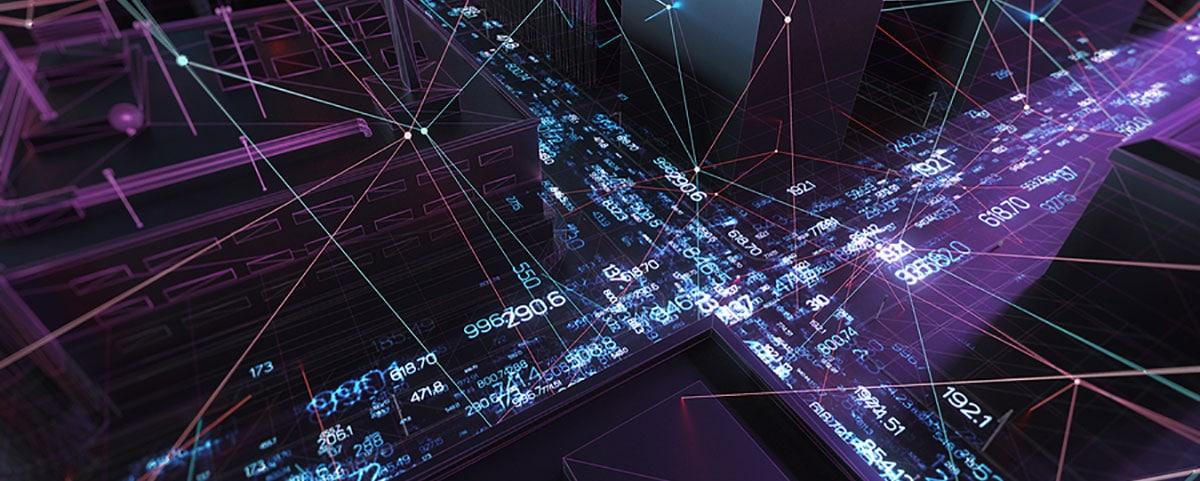 Straßen mit Datenlinien