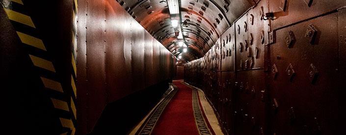 Langer Gang eines Bunkers
