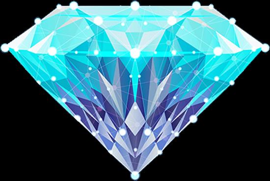 Diamant mit gezeichneten Facetten