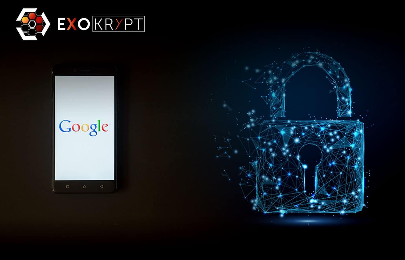 Links ein Smartphone mit Google Logo, rechts ein S