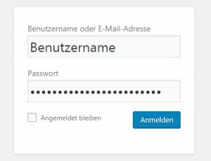 Google Menü für Anmeldung und Sicherheit - Passwort Eingabe
