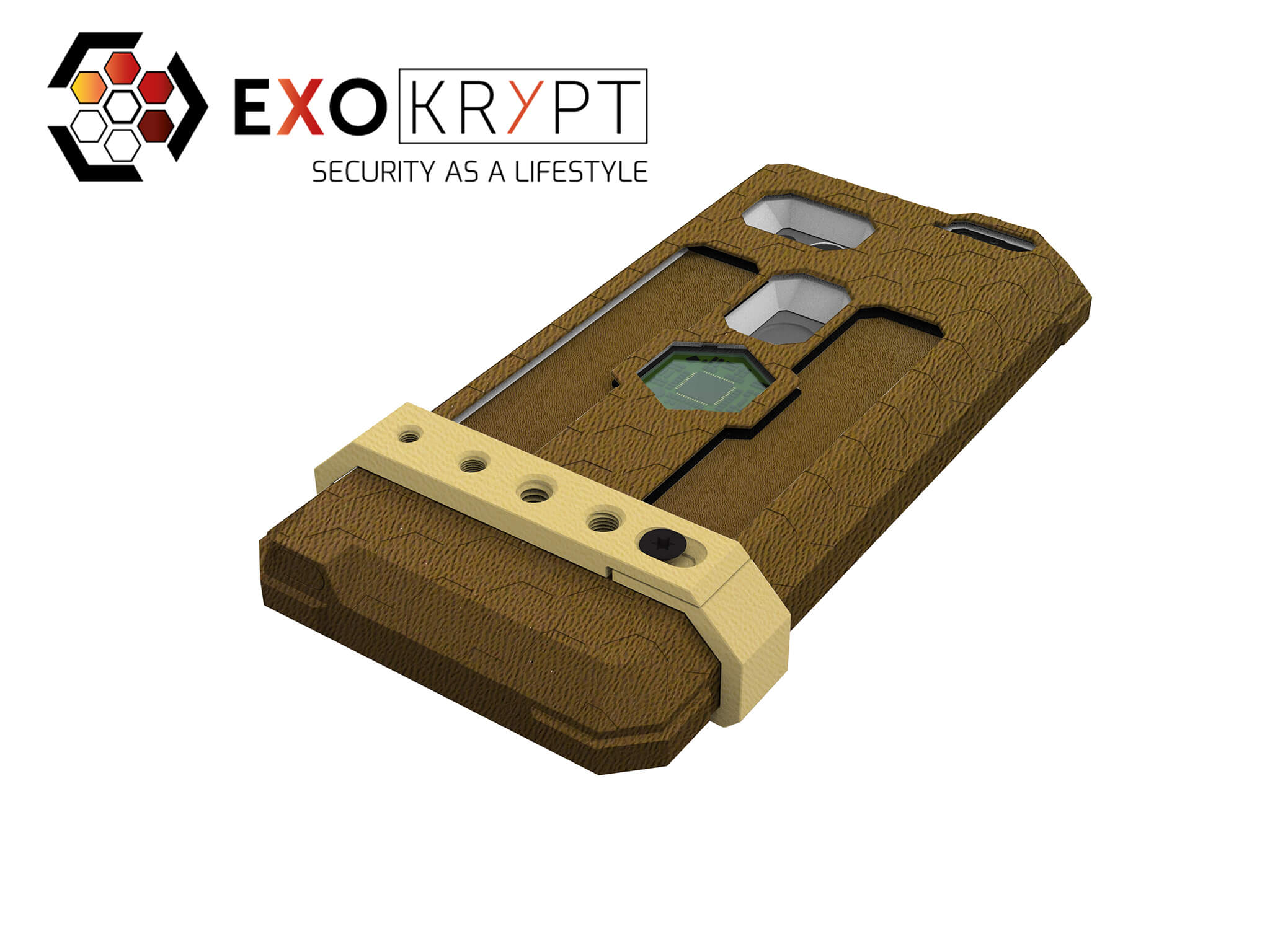 "ExoShield ""THE EDC"" - Outdoor Hülle in Coyote - Coyote Inlets - Universal Mount in TAN"