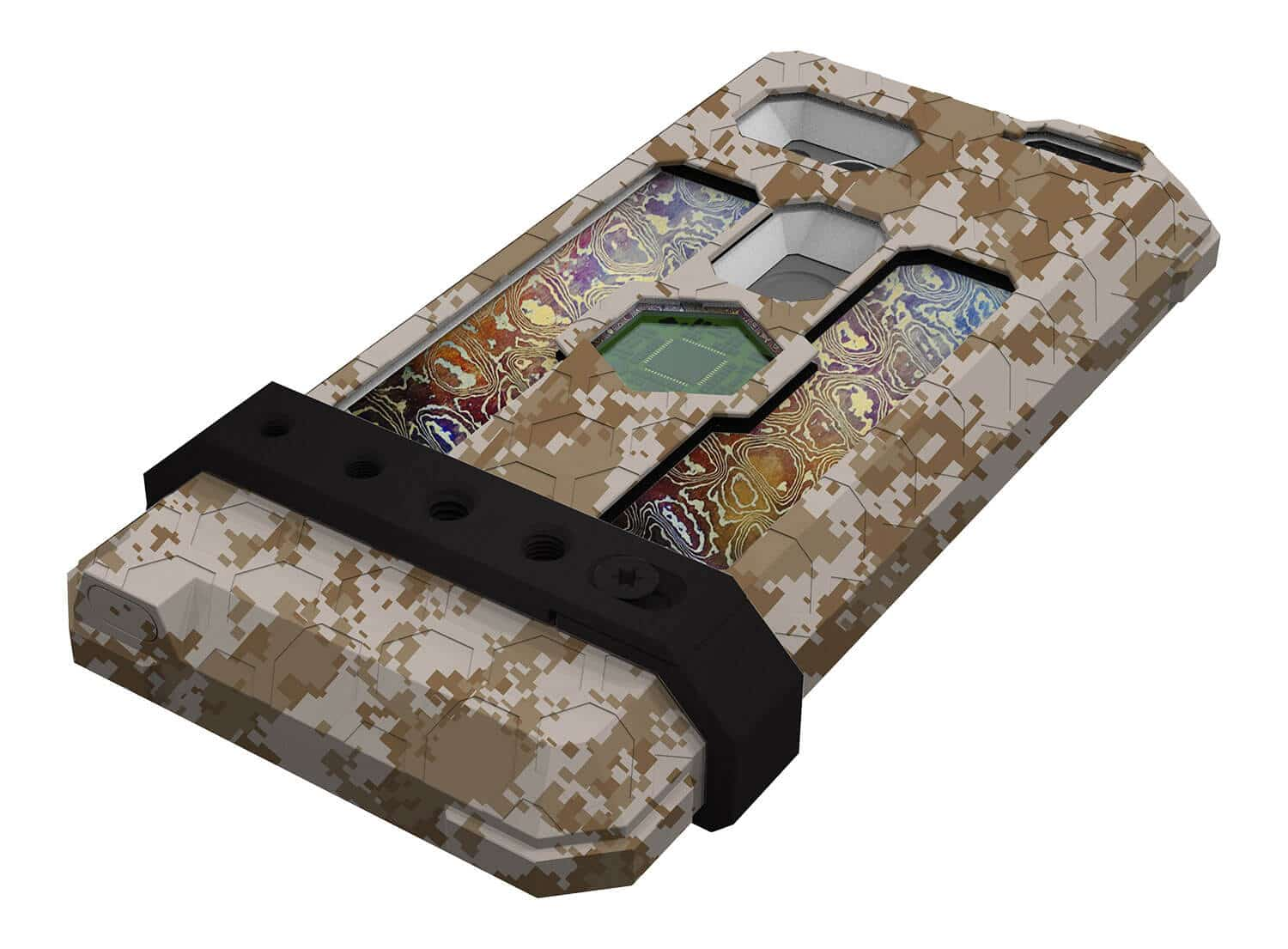 "ExoShield ""LIGHT WARRIOR"" - Outdoor Hülle in Desert Marpat Camo - Mokuti Inlets - Universal Mount in Schwarz"